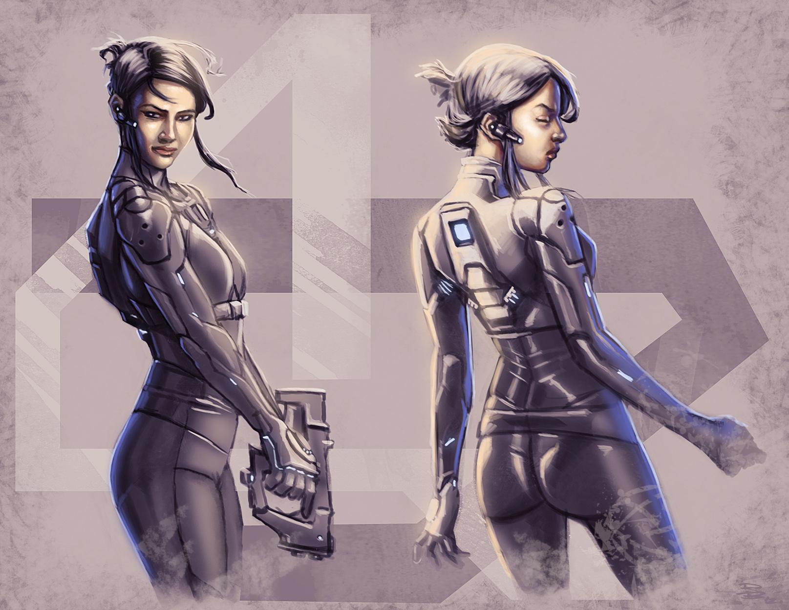 Exo suit 22 sketch by digitalinkrod