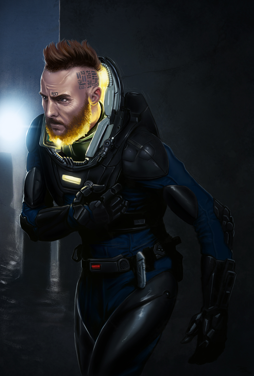 Prometheus fan art Fifield by digitalinkrod on DeviantArt