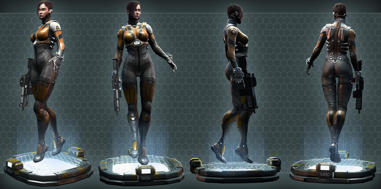 Agent Lyn turnaround by digitalinkrod