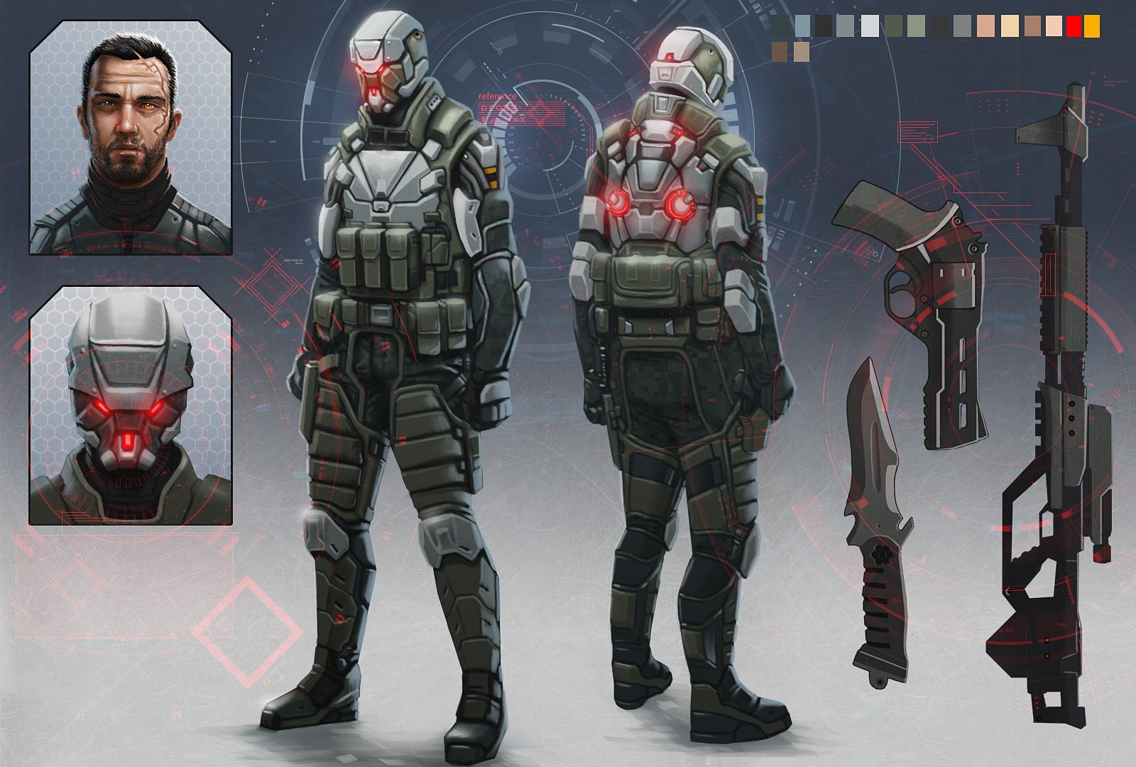 Proxy soldier redesigned armor by digitalinkrod