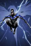 Nightwing jump sketch