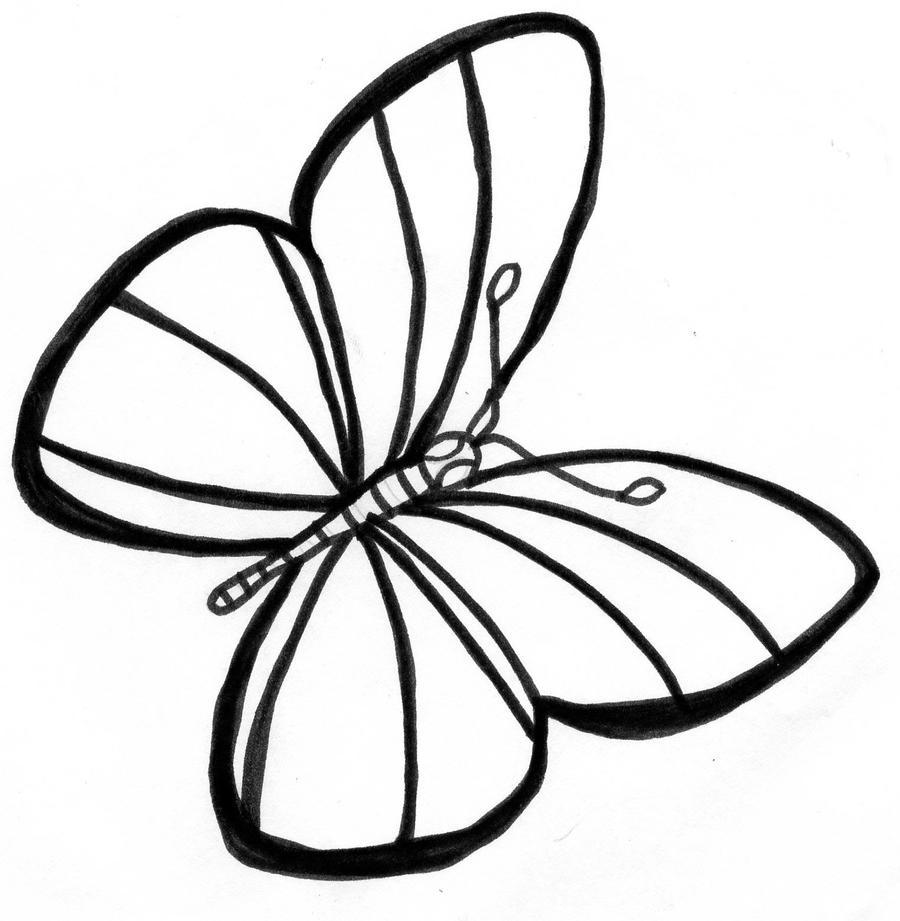 doodle of butterfly by rockiinemmz on deviantart