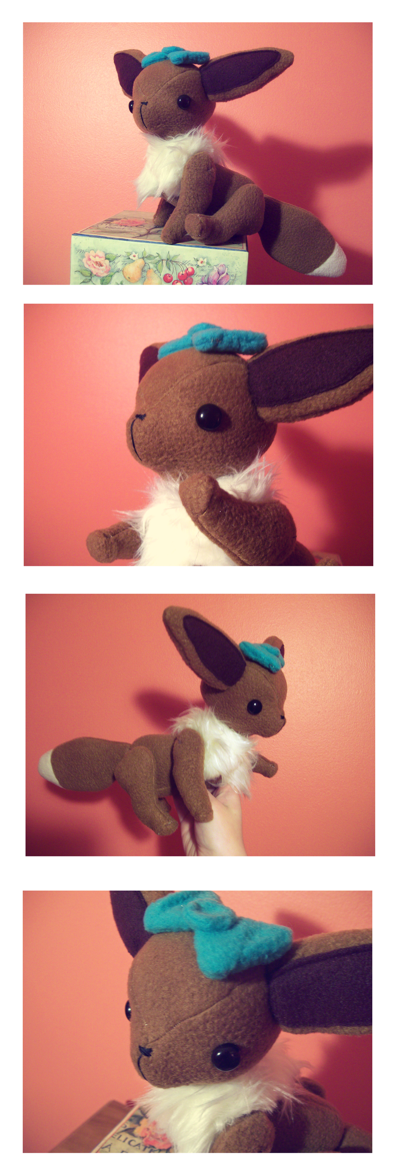 Custom Eevee Plush by nettlebeast