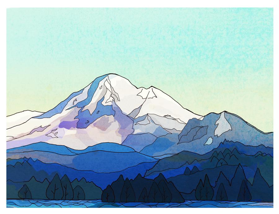 Mt. Baker Illustration by nettlebeast