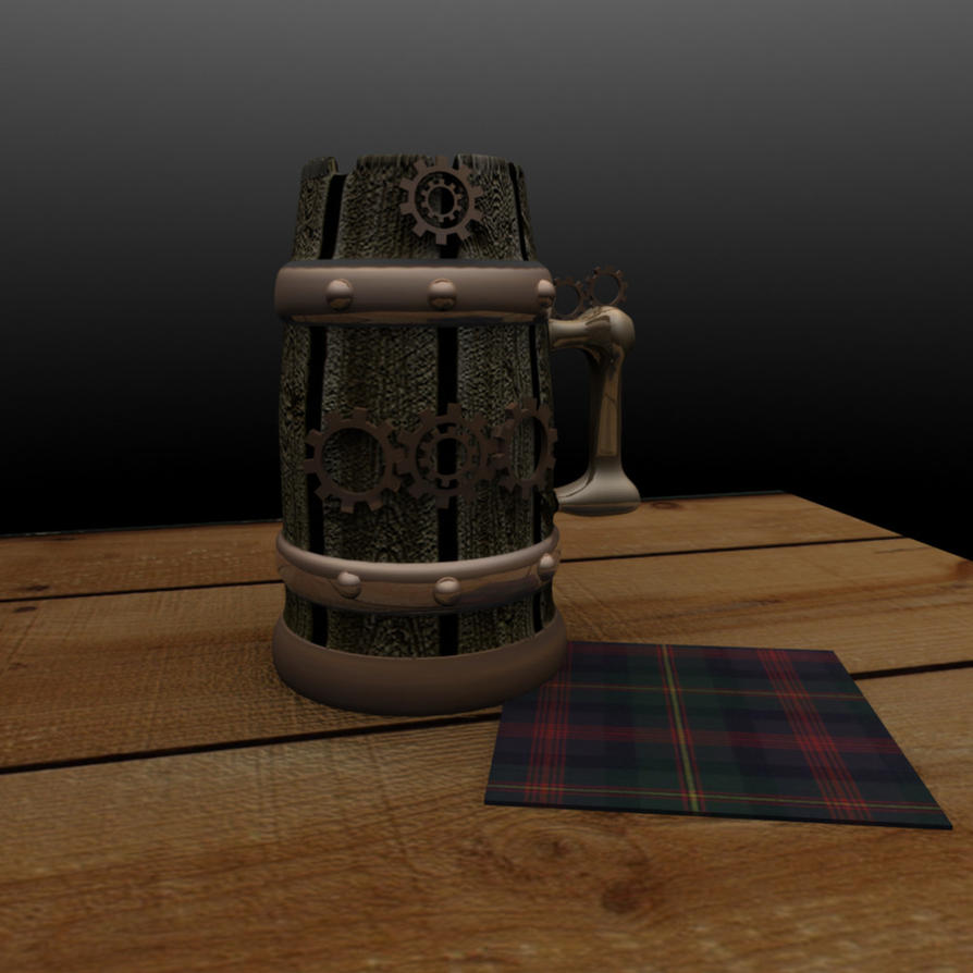 Steampunk Beer stein by Whitey594