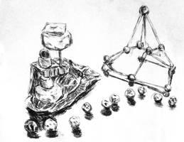 Peas, Marshmallows and Toothpicks