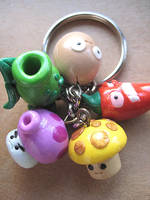 plants vs zombies keychain by gutterlily10