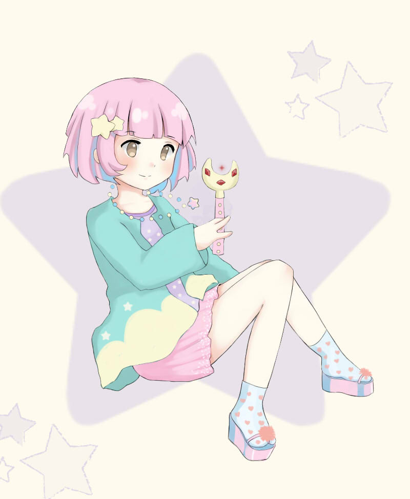 Pastel fairy kei girl by Harukasena