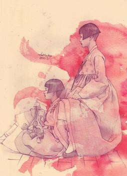Hanbok family