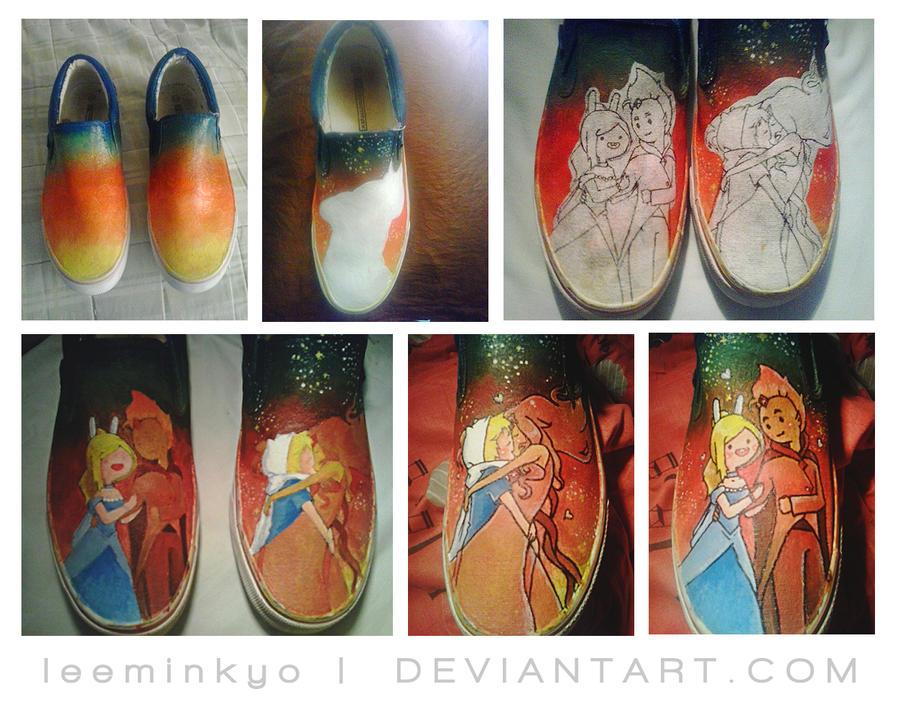 Adventure Time shoes progress. by LeeMinKyo on DeviantArt