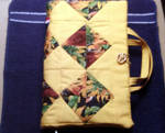 Bright Yellow and Sunflower Pieced Bible Cover by Lilmizflashythang