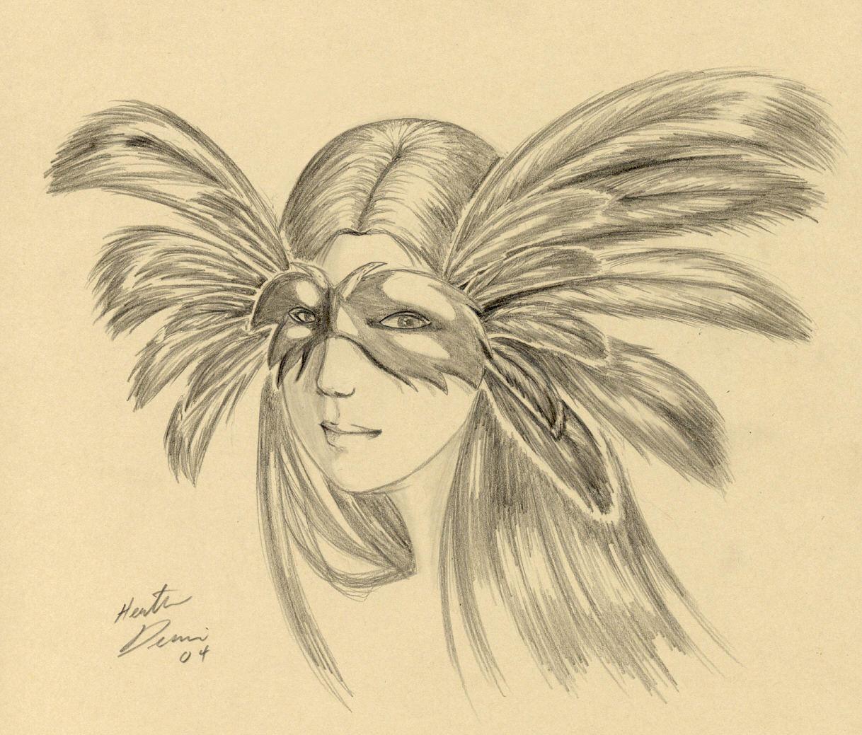 Feather mask of doom. by tavisharts