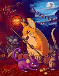 Raticate year of the rat.