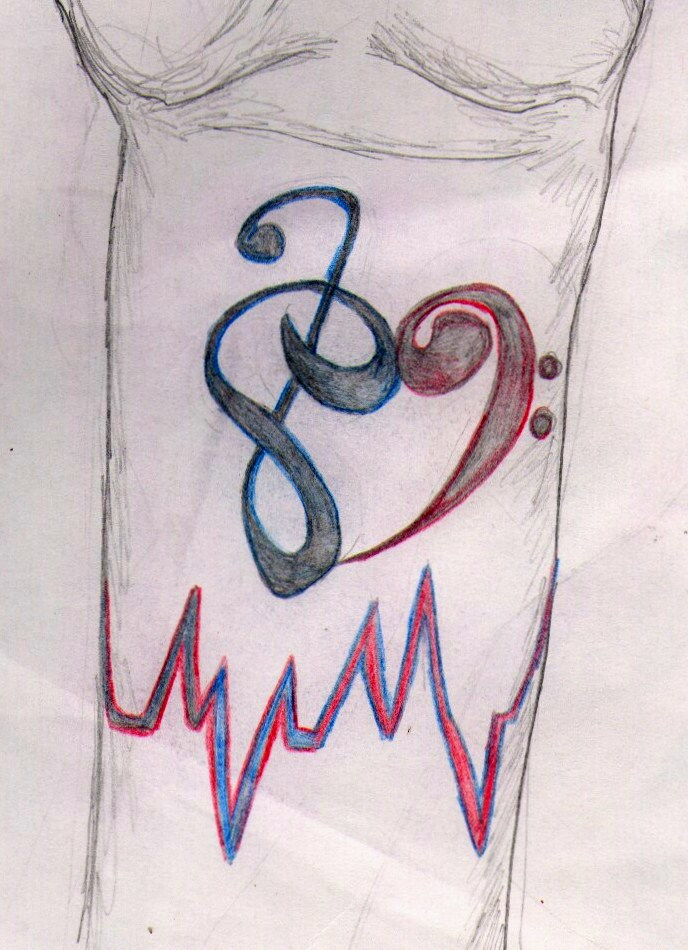 Musical Lifeline Tattoo by FlyHigh20