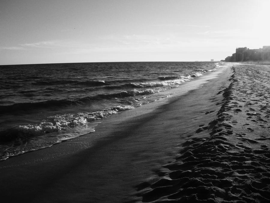 At the Ocean Black and White by PaintKiller on DeviantArt