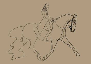 Anybody else love doing linearts? by SlightlyMadStables