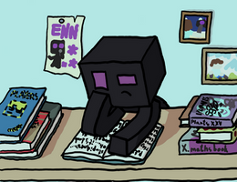 enderman doing his home work by rebelioussnail64