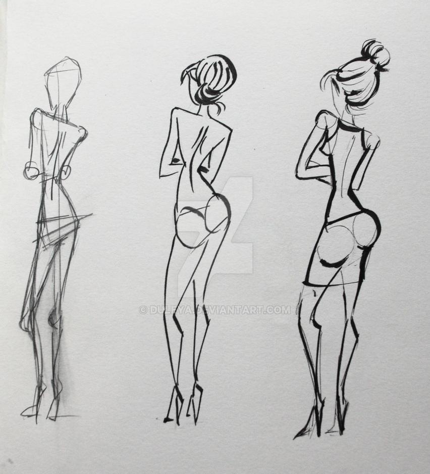 abstract anatomy studies by Duleya