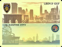 Liberty City - Los Sntos City by saifbeatsart