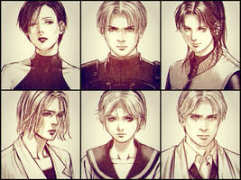 Resident Evil 2: Charecters by saifbeatsart