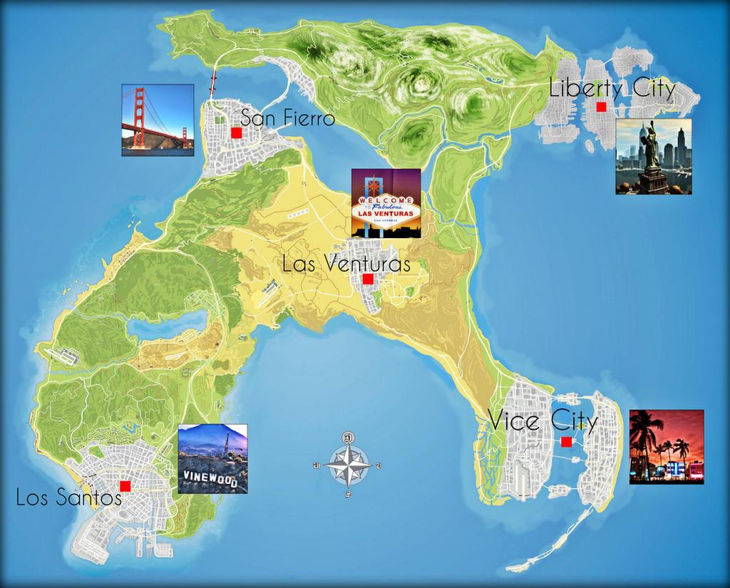 Gta Vi All Cities Map Idea By Saifbeatsart On Deviantart