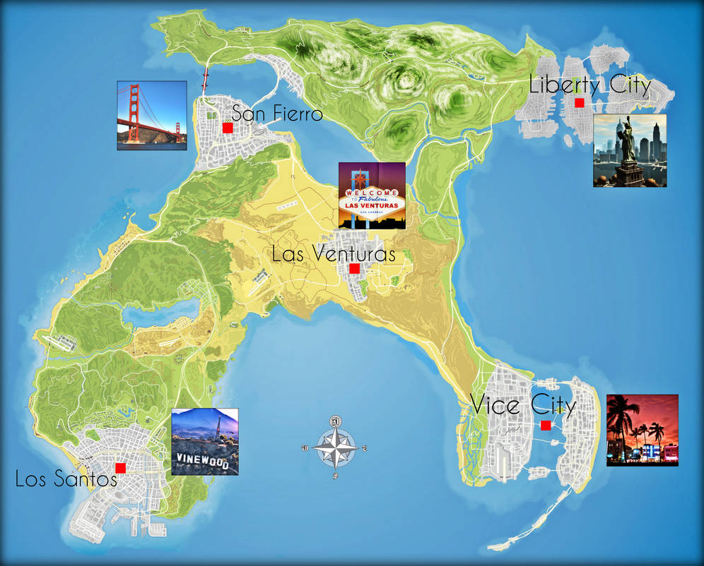 GTA VI: All Cities Map Idea by saifbeatsart on DeviantArt