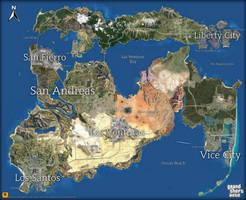 GTA Cities Map by saifbeatsart