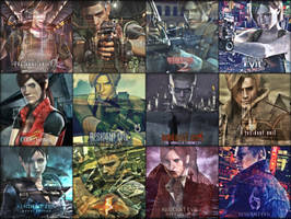 Resident Evil Franchise Collage by saifbeatsart