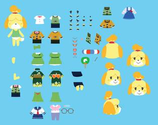 Isabelle Custom Sprites by sugarbee908