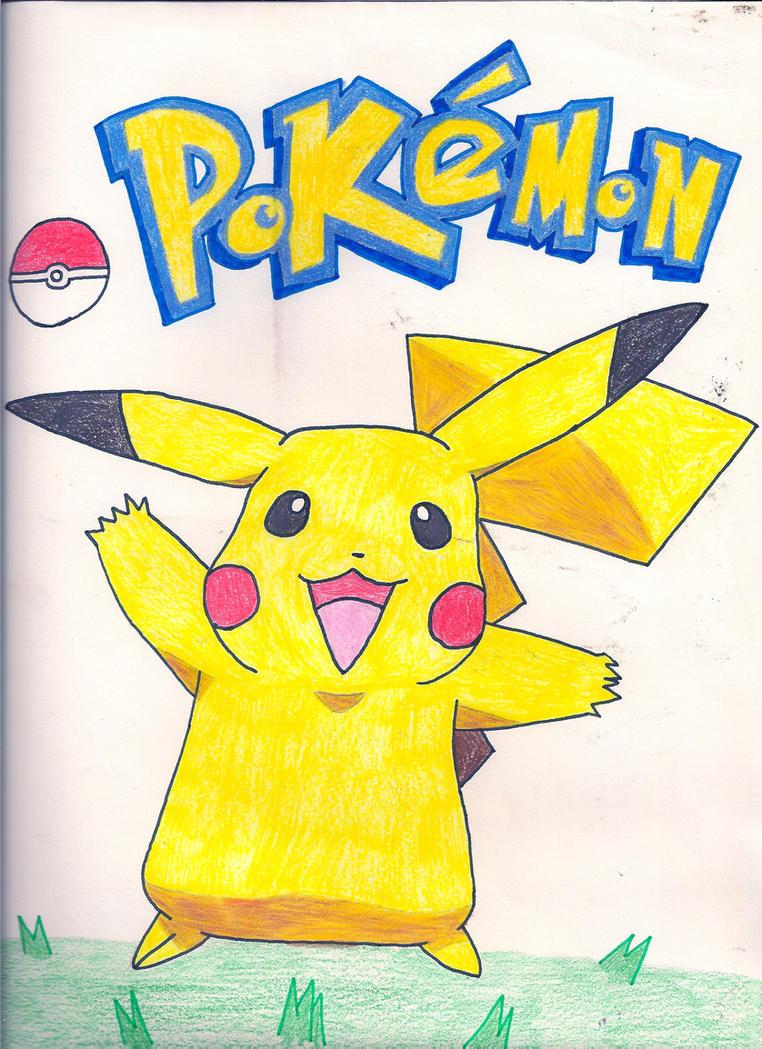 Pikachu With Pokemon Logo 128814517