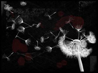 bloody dandelion by jk0921