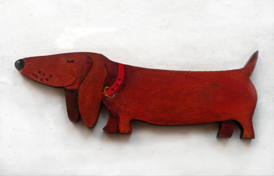 Painted The dachshund