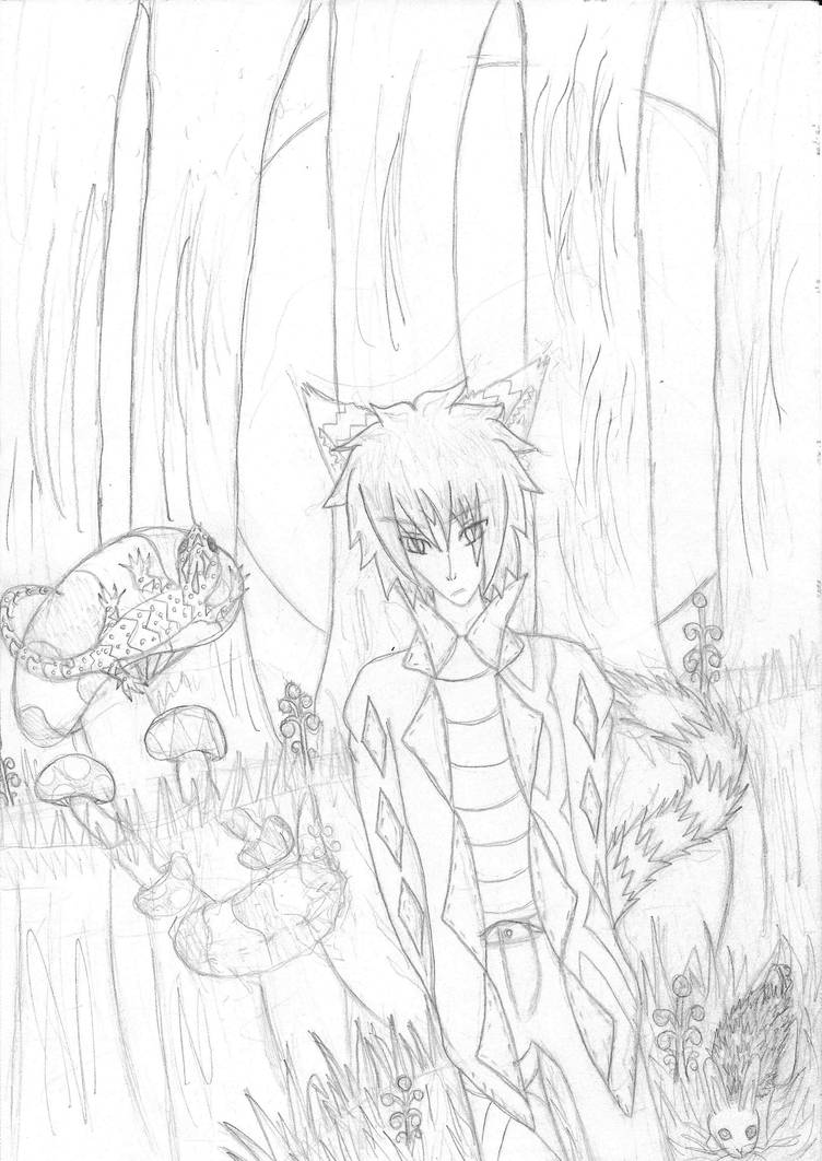 Ara in his Surreal Reality Artpiece Sketch WIP by animalover4six