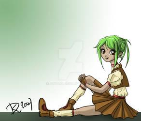 Punk girl in school uniform