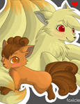 Ninetails and Vulpix