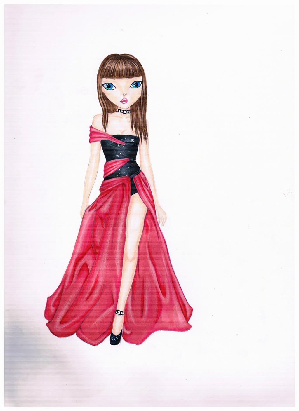 Topmodel Drawing By Me Pretty In Pink By Jollyfashion On Deviantart