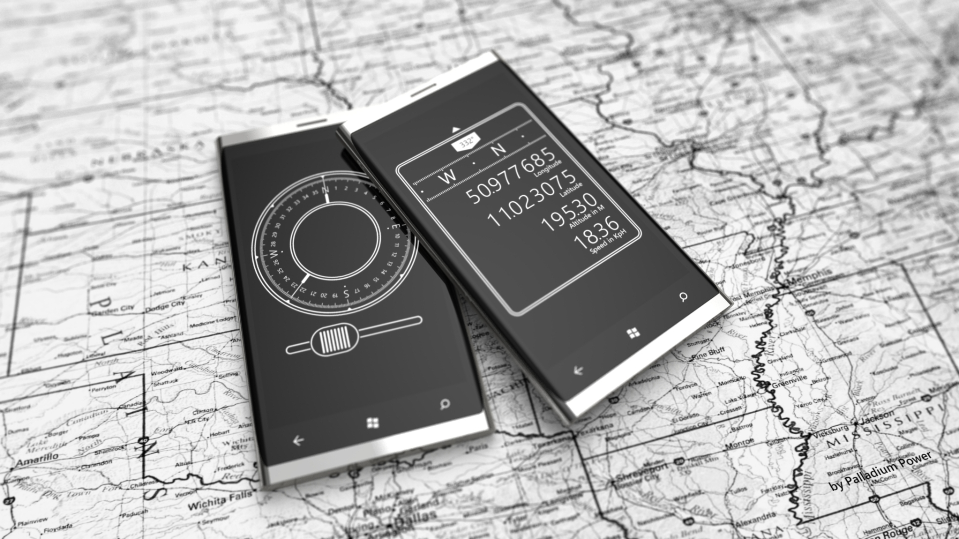 Compasses for Windows Phone 7 by Jonas-Daehnert