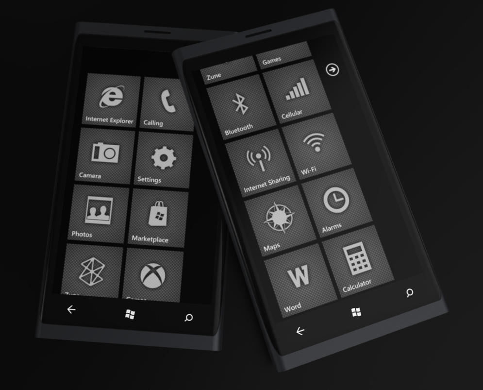 Windows Phone 7 Carbon Style by Jonas-Daehnert