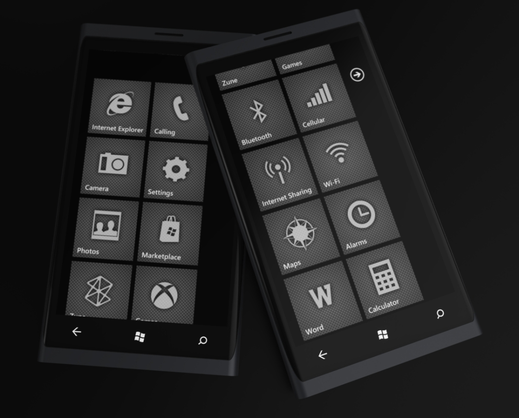 Windows Phone 7 Carbon Style by Jonas-Daehnert
