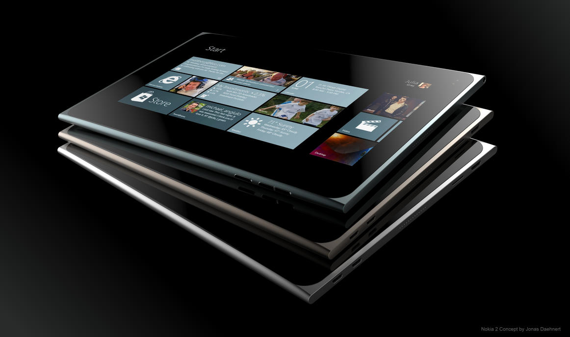 Nokia 2 Concept Tablet - Color Variations by Jonas-Daehnert