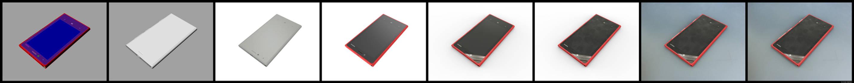 Photorealistic Rendering Steps Nokia Lumia 820