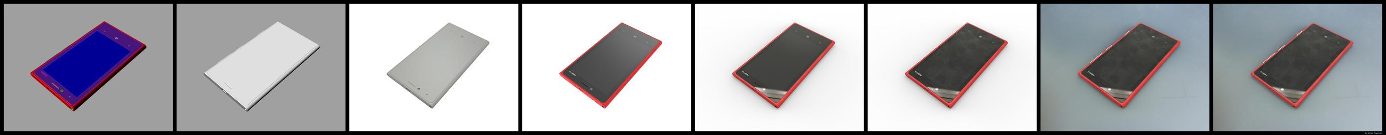 Photorealistic Rendering Steps Nokia Lumia 820 by JonDae