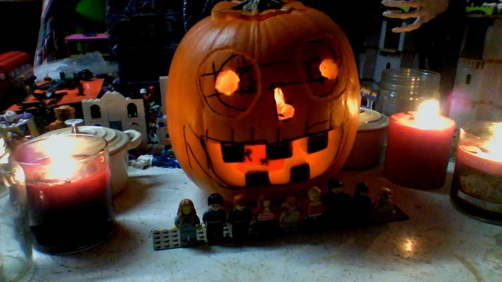 close up to jack lantern by legochambersecrets