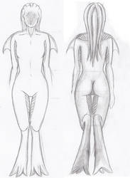 Monster Girl Rear and Frontal View