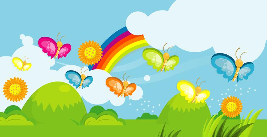 Mariposas y flores infantiles - Imagui