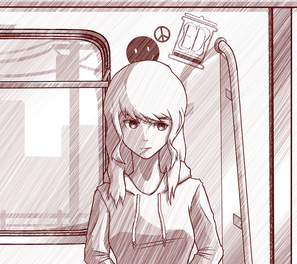 Inside a train by TheYoungReaper