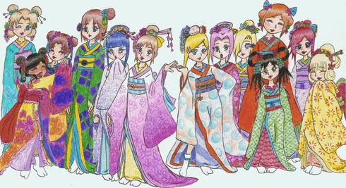 Geisha Girls by HaNoN-cHaN4321