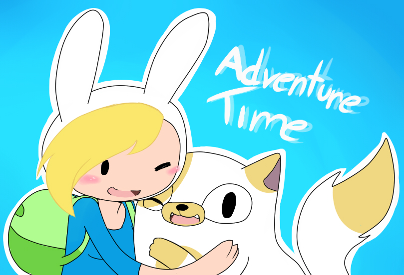 Adventure time: Fiona and Cake by Kairi-Z