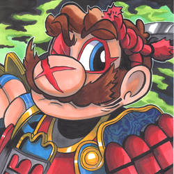 Mario Samurai by Radarai