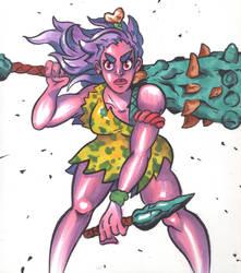Cave Girl Rage mode by Radarai